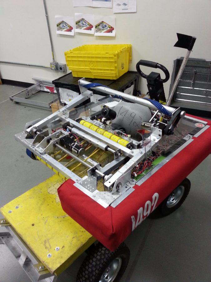Kamryn Chan's robotics team won their competition with this robot.
