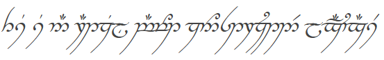 That's Elvish for,