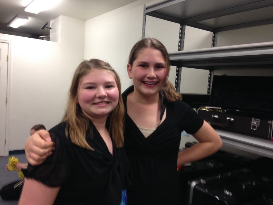 Concert Band performers after the performance.