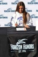 Cici Collins signs to Houston Baptist University.