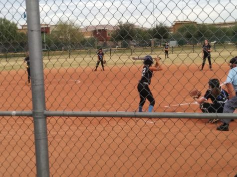 MS Softball Tussles with a Tough Rival