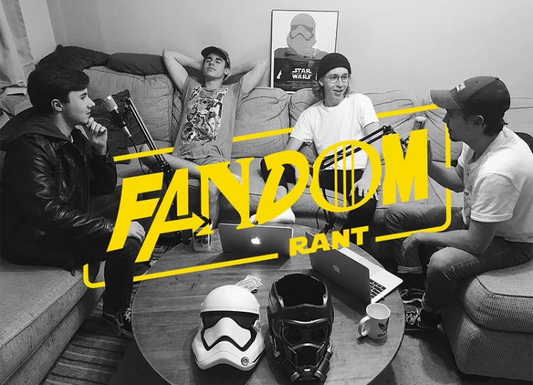 The members of Fandom Rant Radio (from left to right), Clint Alfrey, Devin Harris, Ryan Kenzler, and Jack Kenzler.