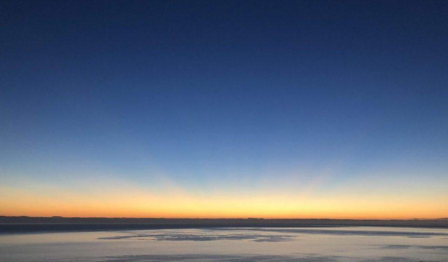 Sunrise over Catalina.