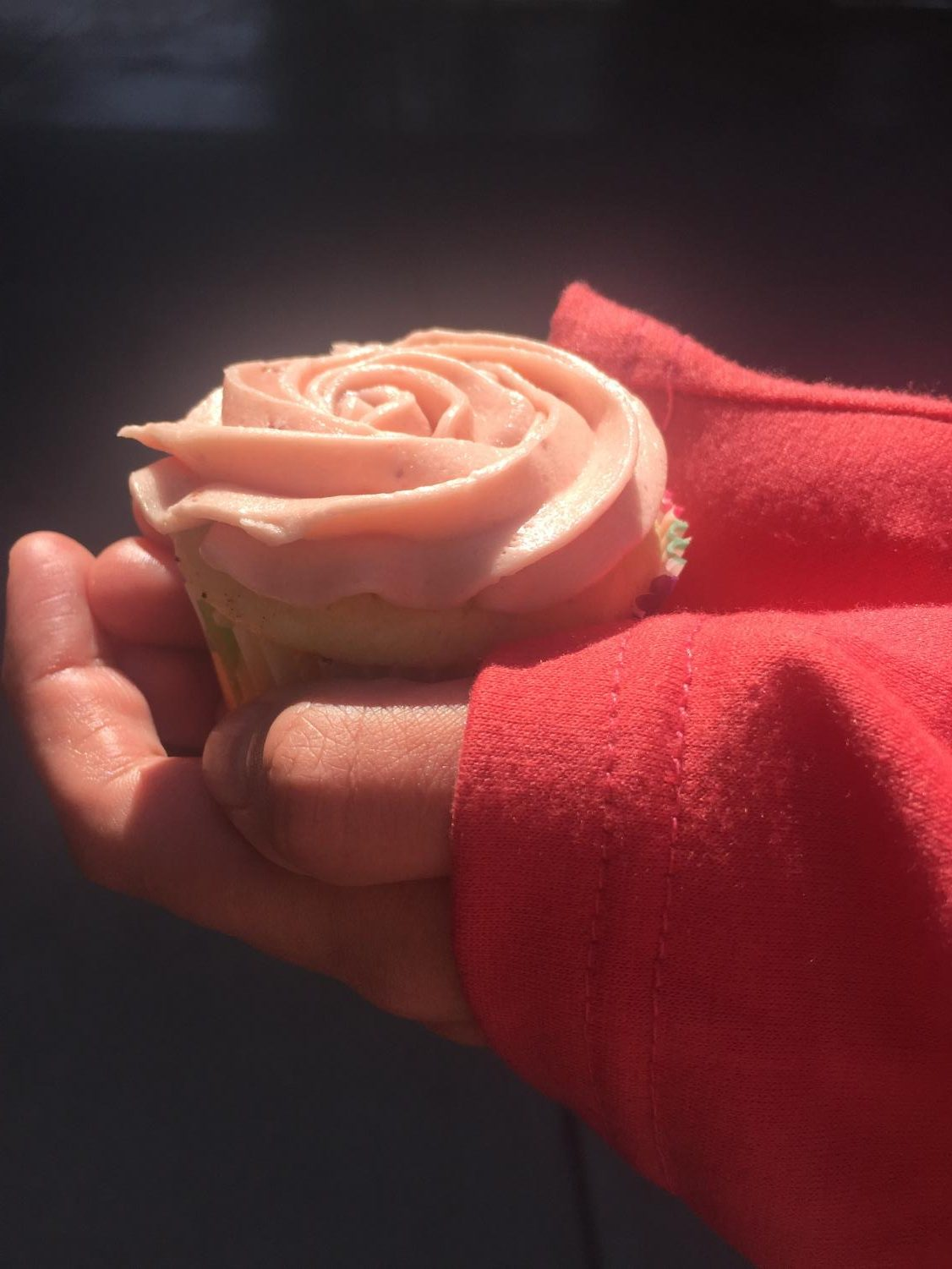 A beautiful cupcake is the perfect way to treat yourself.