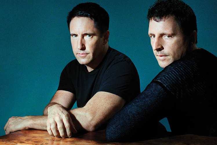 Trent Reznor and Atticus Ross. Photographed for the Wall Street Journal.