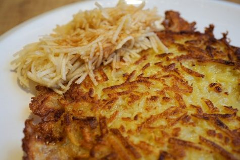 Although not quite a latke, these potato pancakes are just as delicious.