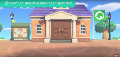 "A photo from the ""Animal Crossing: New Horizons Direct"" of the expanded resident services building."