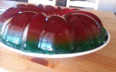 Rainbow Jell-O Bundt Cake