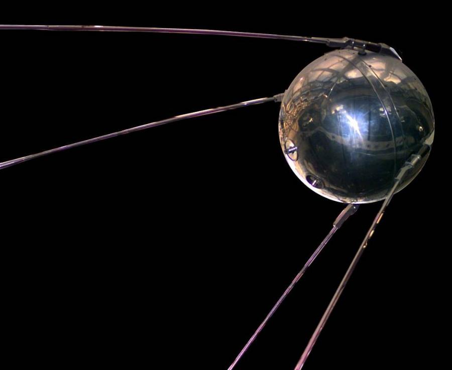 The Sputnik satellite.