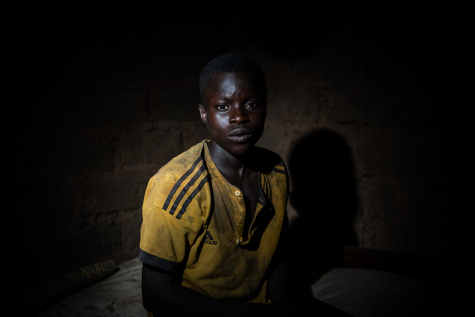 Karim Bakaray, 16, works at a cocoa farm.