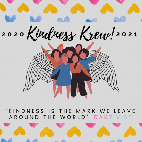 Kindness Krew 2020-2021 poster designed by Kayli Taylor