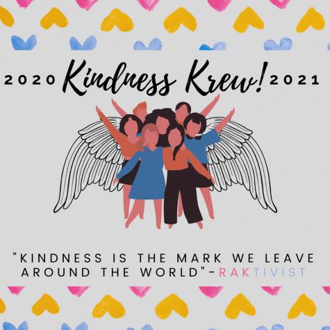 Kindness Krew 2020-2021 poster designed by Kayli Taylor