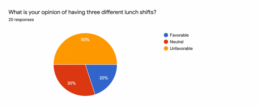 What do Students Think About the Three Lunch Shifts?