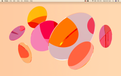 One of the many simple yet beautiful Mac backgrounds, one of many features which puts them aesthetically ahead of Windows.