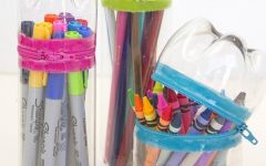 Turn a single-use plastic bottle into a great supply holder.