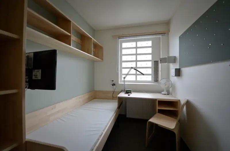 A Swedish prison cell.