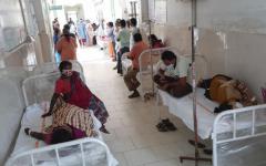 Patients of the district government hospital in Eluru, Andhra Pradesh, India, Dec. 6, 2020.