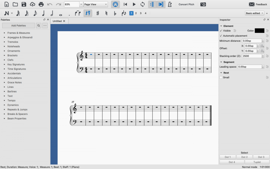 An image of MuseScore 3.6.