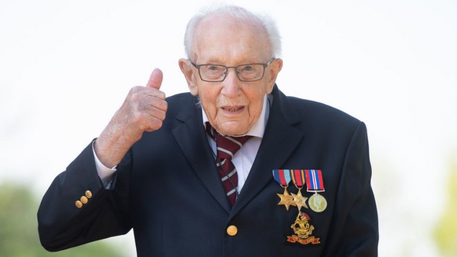 """Tomorrow will be a good day."" The global phenomenon who raised millions of dollars to fight COVID-19, Captain Sir Tom Moore, died just before his 101st birthday."