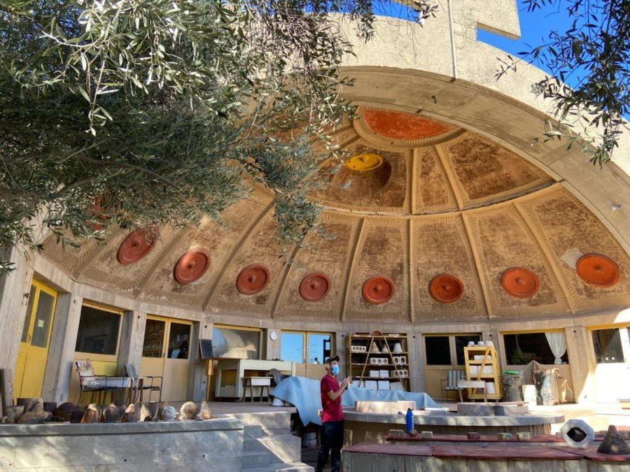 Arcosanti's Apse building.