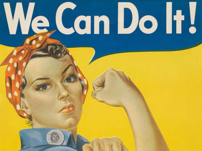 Rosie the Riveter was the face of the female workforce during WWII.