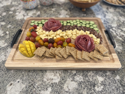 A sample charcuterie board.