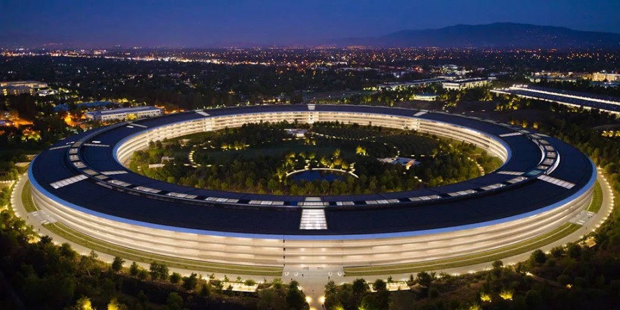 Apple Park in the Silicon Valley.
